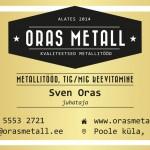 Oras Metall visiitkaardid